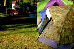 Het Kamperen van de tent Stock Foto's