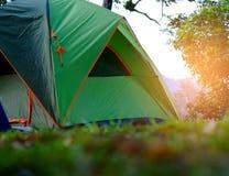 Het Kamperen van de tent Stock Afbeelding