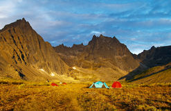 Het Kamperen van de Wildernis van Yukon Royalty-vrije Stock Fotografie