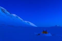Het kamperen van Lapland stock foto's