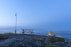 Het kamperen van Nice plaats Stock Fotografie