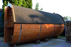 Het kamperen vat in Zuidelijk Duitsland stock afbeelding