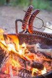 Het kamperen voedsel Royalty-vrije Stock Afbeeldingen