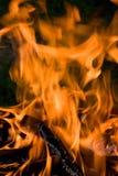 Het kamperen vuur Royalty-vrije Stock Foto's