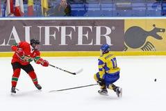 2018 het Kampioenschap Afd. 1, Kyiv, de Oekraïne van de ijshockeyu18 Wereld Royalty-vrije Stock Fotografie