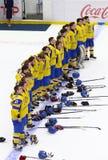 2018 het Kampioenschap Afd. 1, Kyiv, de Oekraïne van de ijshockeyu18 Wereld Stock Fotografie
