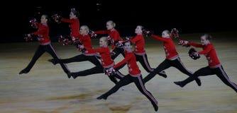 Het Kampioenschap van Cheerleading van Finland 2010 stock foto