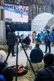 Het kampioenschap van de Biathlonwereld - openbare gebeurtenis in Oslo, Noorwegen royalty-vrije stock foto