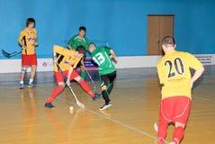 Het Kampioenschap van Floorball van de Oekraïne 2011-2012 Royalty-vrije Stock Foto's