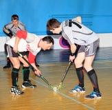 Het Kampioenschap van Floorball van de Oekraïne 2011-2012 Royalty-vrije Stock Afbeeldingen