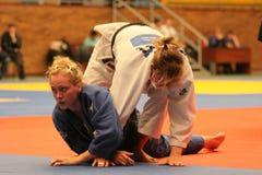 Het kampioenschap van het judo stock foto's