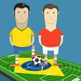Het kampioenschap van het wereldvoetbal in de illustratie van Brazilië royalty-vrije illustratie
