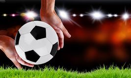 Het kampioenschapsidee van de voetbalwereld stock fotografie