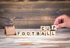 Het kampioenschapskop van de voetbal 2018 wereld, voetbal Stock Foto