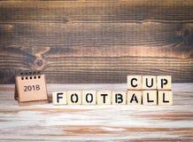 Het kampioenschapskop van de voetbal 2018 wereld, voetbal Royalty-vrije Stock Foto