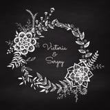 Het kan voor het verfraaien van huwelijksuitnodigingen, groetkaarten en decoratie voor zakken worden gebruikt vector illustratie
