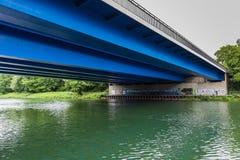 Het kanaal Gelsenkirchen Duitsland van Rijn Herne Stock Afbeeldingen
