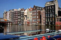 Het kanaal van Amsterdam, Royalty-vrije Stock Afbeeldingen