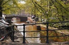 Het kanaal van Amsterdam Stock Afbeelding