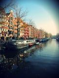 Het Kanaal van Amsterdam Stock Afbeeldingen