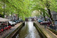 Het kanaal van Amsterdam Royalty-vrije Stock Afbeeldingen