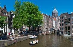 Het Kanaal van Amsterdam Stock Fotografie