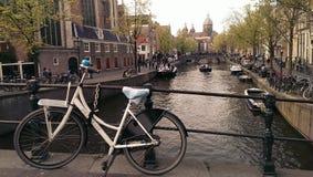 Het Kanaal van Amsterdam Stock Foto