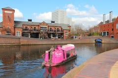 Het kanaal van Birmingham Stock Foto's