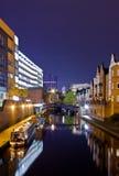 Het Kanaal van Birmingham, Brindley Place stock afbeelding