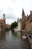 Het Kanaal van Brugge stock fotografie