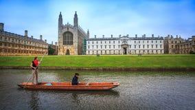 HET KANAAL VAN CAMBRIDGE Stock Foto