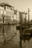 Het kanaal van Chioggia royalty-vrije stock afbeelding