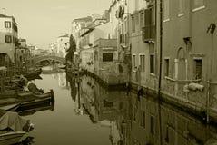 Het kanaal van Chioggia royalty-vrije stock foto