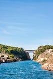 Het Kanaal van Corinth stock fotografie