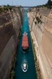 Het kanaal van Corinth Stock Foto