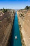 Het Kanaal van Corinth, Griekenland Stock Afbeeldingen
