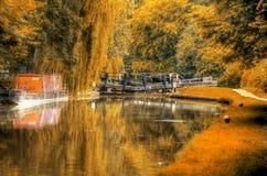 Het Kanaal van de herfst Royalty-vrije Stock Foto