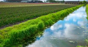 Het Kanaal van de irrigatie royalty-vrije stock afbeelding