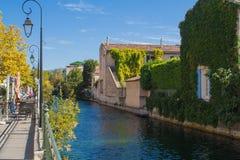 Het kanaal van de rivier Royalty-vrije Stock Foto