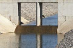 Het kanaal van de waterafleidingsactie Royalty-vrije Stock Foto's