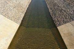 Het kanaal van de waterafleidingsactie Stock Afbeelding