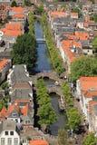 Het kanaal van Delft stock foto's