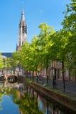 Het kanaal van Delft Stock Fotografie