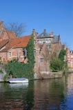 Het Kanaal van Graslei, Mijnheer, Vlaanderen, België royalty-vrije stock foto's