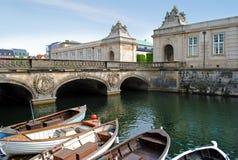 Het kanaal van Kopenhagen stock afbeeldingen