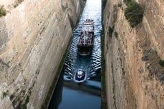 Het kanaal van Korinth stock afbeelding