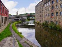 Het Kanaal van Leeds Liverpool in Burnley Lancashire stock foto's