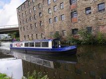 Het Kanaal van Leeds Liverpool in Burnley Lancashire stock afbeeldingen