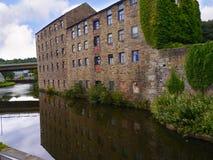 Het Kanaal van Leeds Liverpool in Burnley Lancashire stock afbeelding