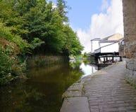 Het Kanaal van Leeds Liverpool in Burnley Lancashire royalty-vrije stock afbeelding